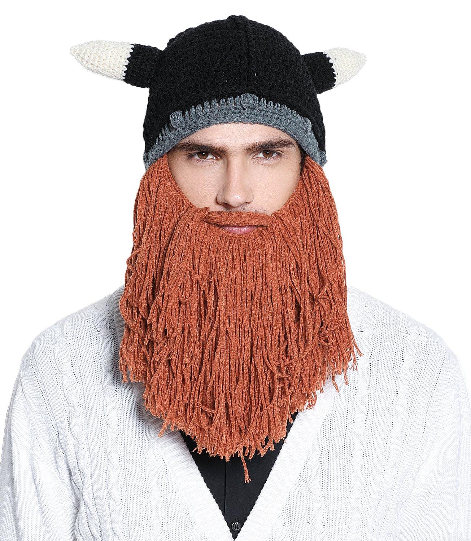 7916f4ce364   Faleto Funny Knit Beanie Beard Hat Rasta Hat with Dreadlocks Handmade Wig  Fancy Halloween Caps  19.99. Click ...