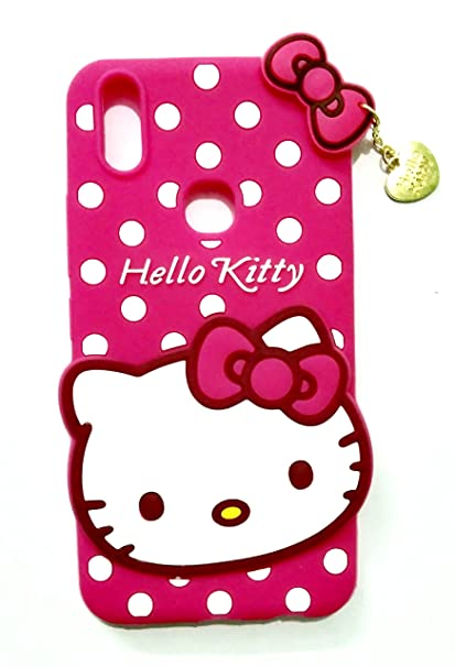 premium selection 53043 fe024 Trifty Vivo V9 Girl's Back Cover Hello Kitty Silicon with Pendant - Pink