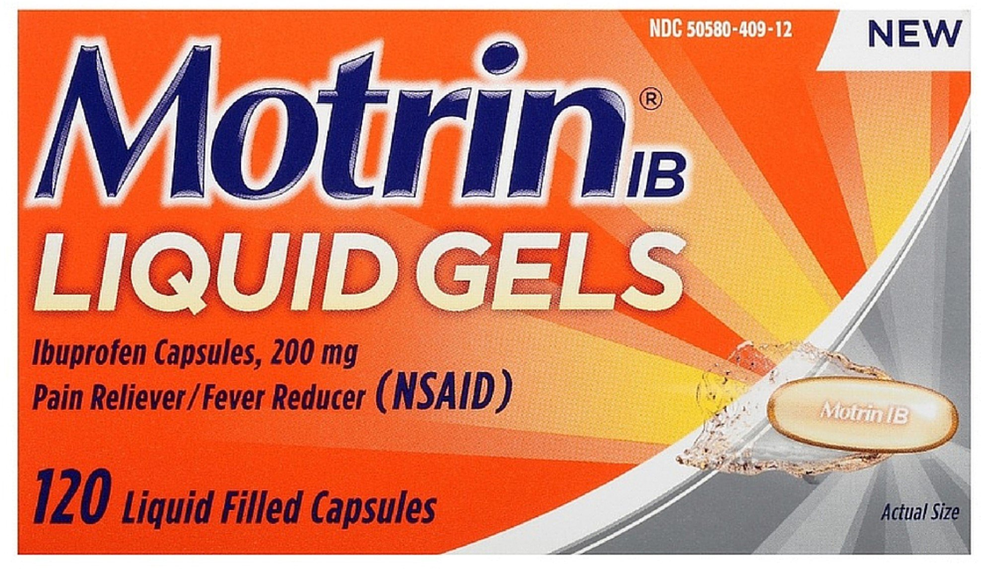 Motrin IB Pain Reliever/Fever Reducer Liquid Gels 120 ea (2 Pack) by Motrin
