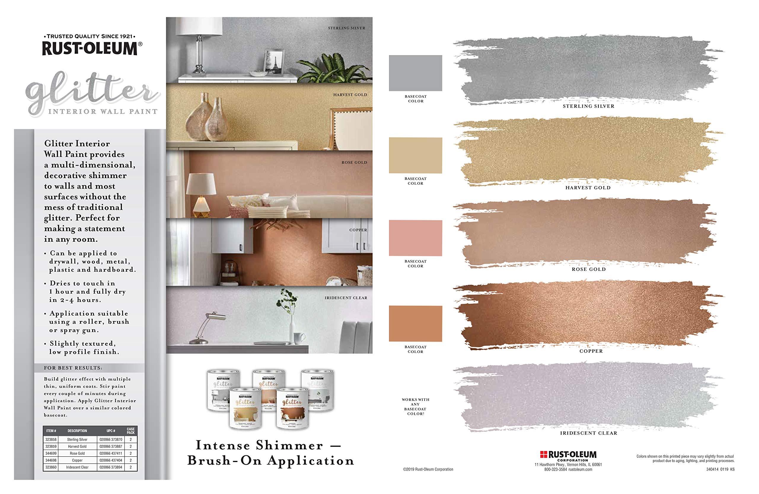 Rust Oleum 323860 Glitter Interior Wall Paint Quart