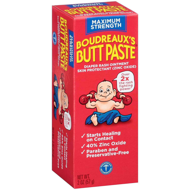 Boudreaux's Butt Paste Diaper Rash Ointment, Maximum Strength Paraben & Preservative Free, 2 Ounce by Boudreaux's Butt Paste