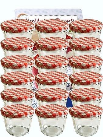 100 Sturzglaser 230 Ml Rot Marmeladenglaser Einmachglaser