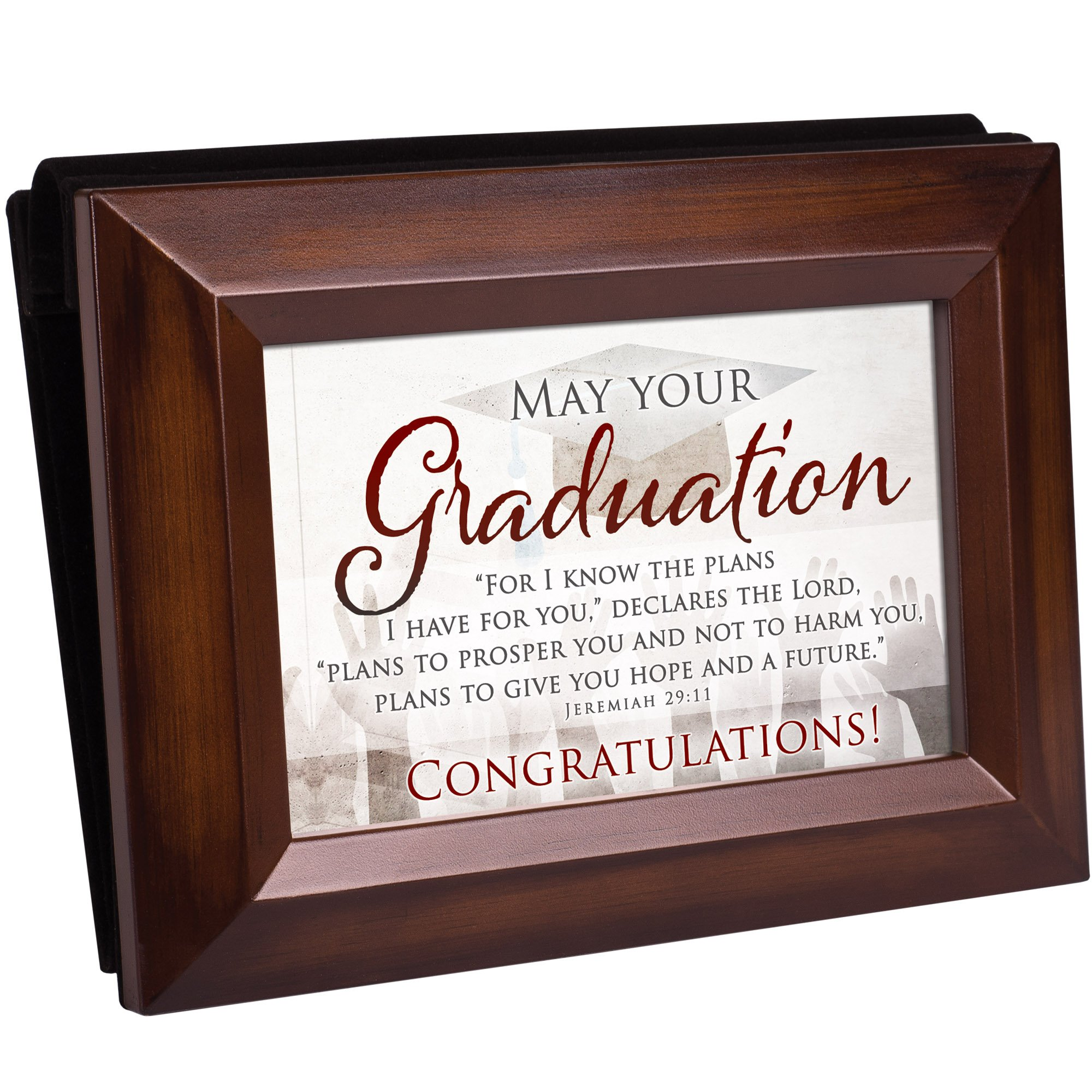 Cottage Garden Graduation Dreams Great Things Woodgrain Raised Panel Easel Back Photo Album by Cottage Garden