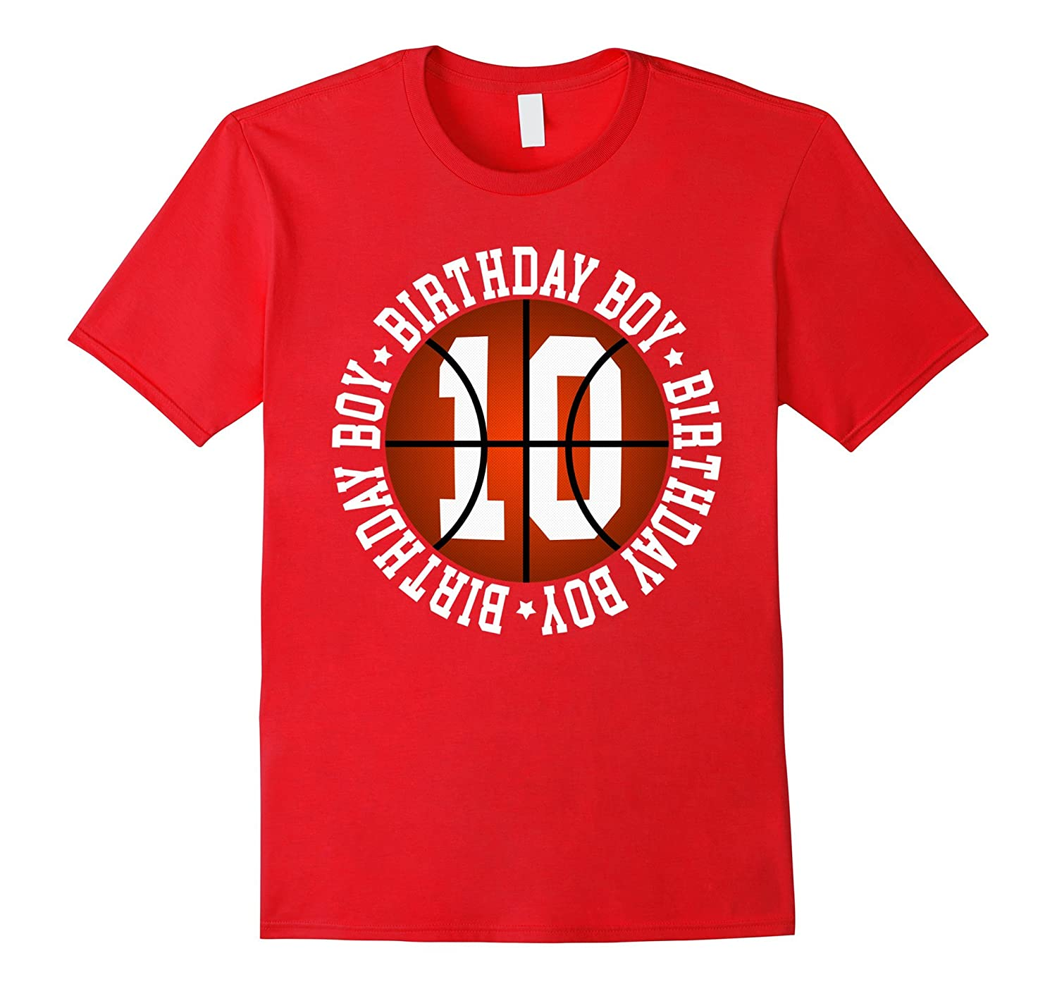 10th Birthday Boy Basketball T-Shirt 10 Year Old Baller-ANZ