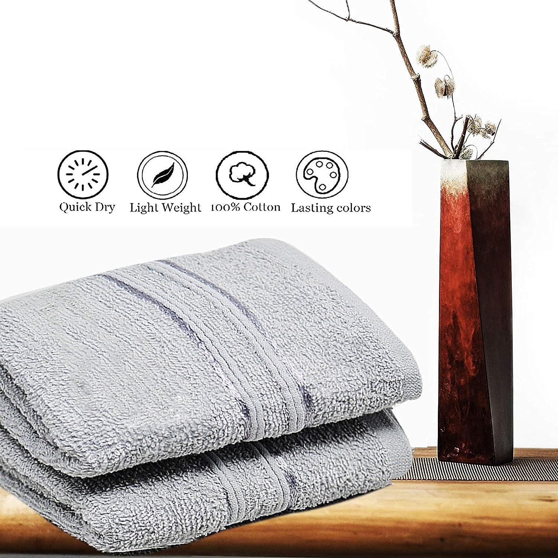 Bianco Set di Asciugamani in Flanella di Cotone Egiziano Super Morbidi e Altamente assorbenti Confezione da 4 30 x 30 cm Towelogy      /® 500 g//mq