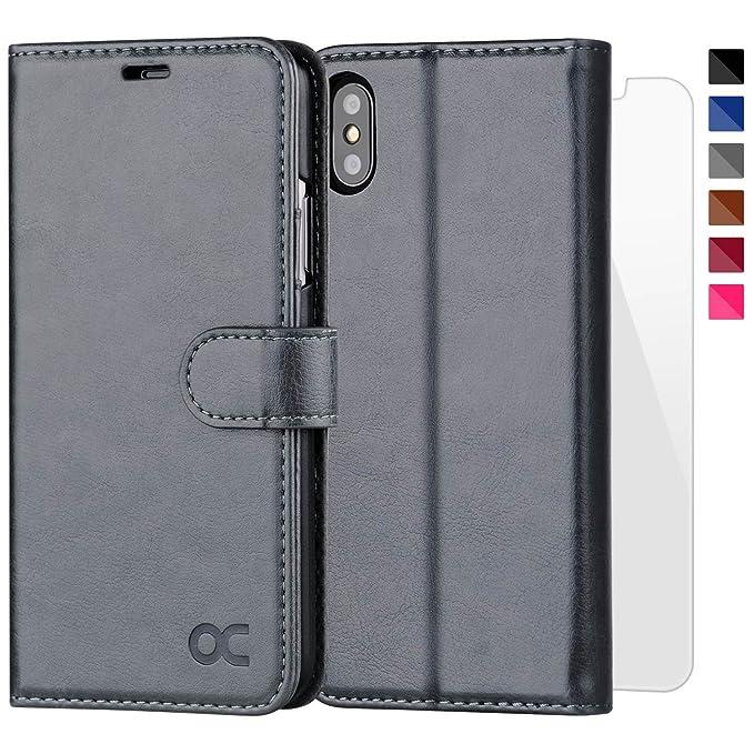 12 opinioni per OCASE Cover iPhone X [Portafoglio] [pellicola vetro temperato schermo inclusa]