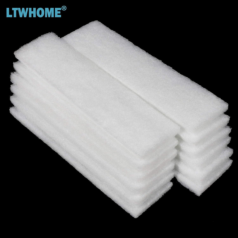 Paquet de 6 LTWHOME Compatible Polyester Filtration Tapis Convient pour Fluval U4 Filtres