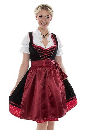 a8b070ad405db3 Bavarian Clothes Dirndl Trachtenkleid Kleid 3Tlg. mit Dirndlbluse Schürze  Trachtenkleid Dirndl Gr: 38 rot