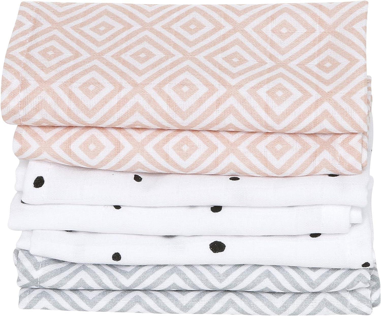 Toallas para bebé de muselina de algodón, 7 unidades, 30 x 30 cm ...