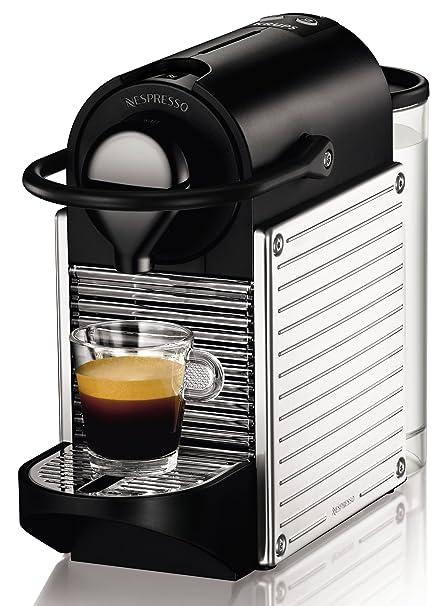 Nespresso Pixie Steel XN300DP4 Krups - Cafetera monodosis 19 bares, apagado automático, color negro