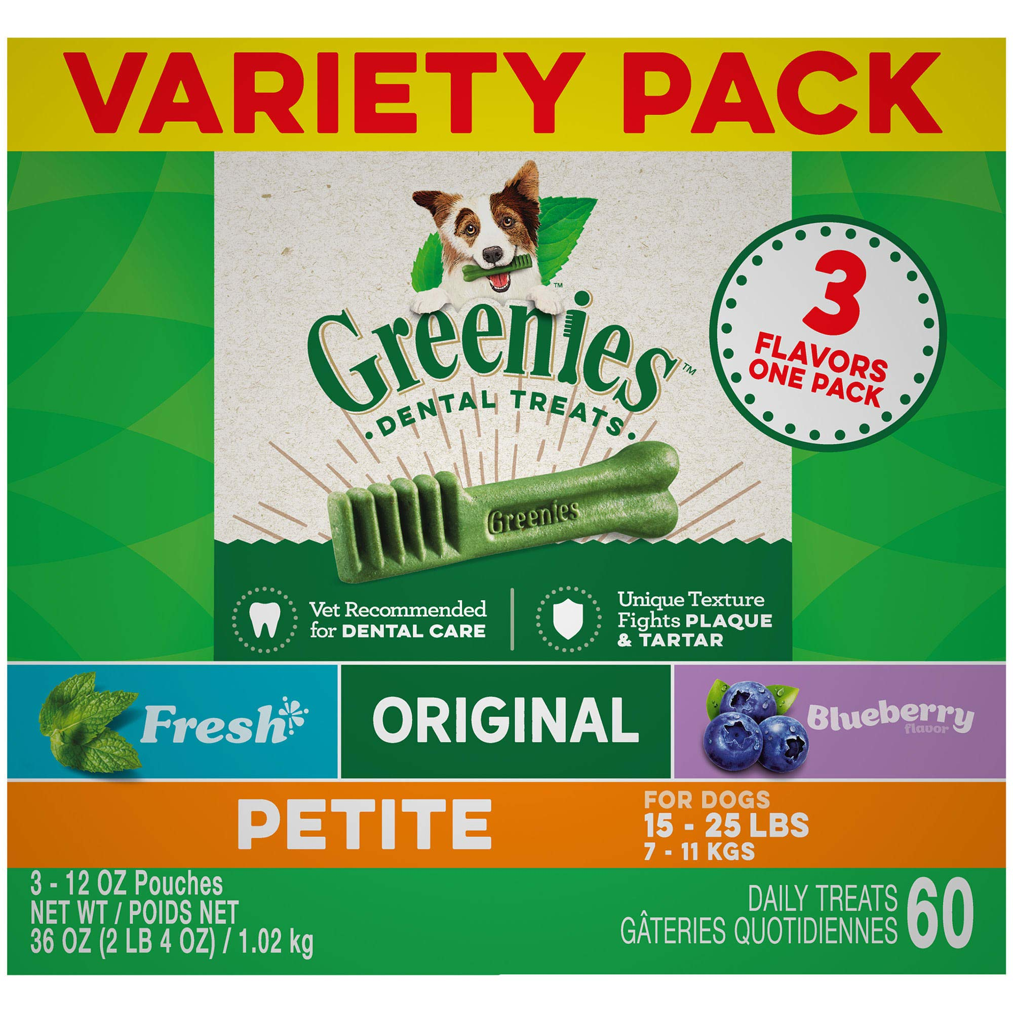 GREENIES 3-Flavor Variety Packs (3, 12oz Packs)