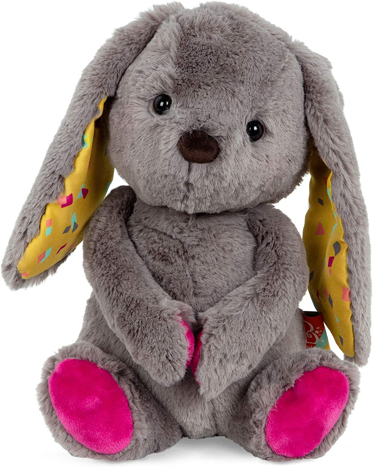 B. toys by Battat – Happy Hues – Sprinkle Bunny – Huggable Stuffed Animal Rabbit Toy – Soft & Cuddly Plush Bunny – Washable – Newborns, Toddlers, Kids, Multicolor, 12 inches, Model:BX1787C30Z