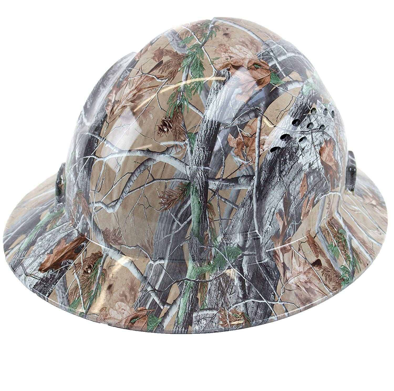 Troy Safety RK-HP44-ORIENT Patterned Hard Hat Full Brim Style with 4 Point Ratchet Suspension (Orient) by Troy Safety