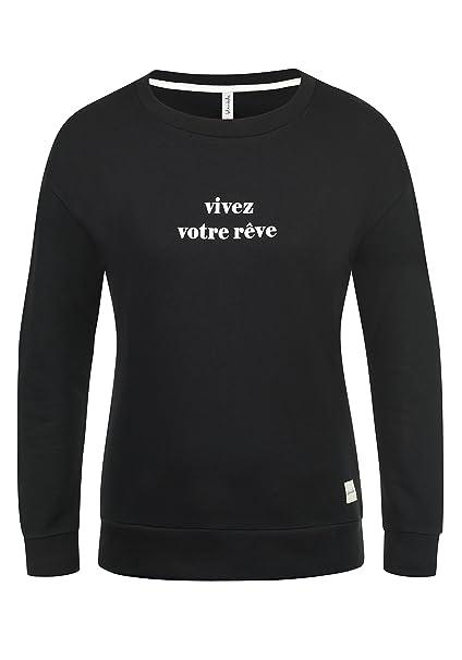 BlendShe Aurelie Damen Sweatshirt Pullover Sweater Mit Rundhalsausschnitt