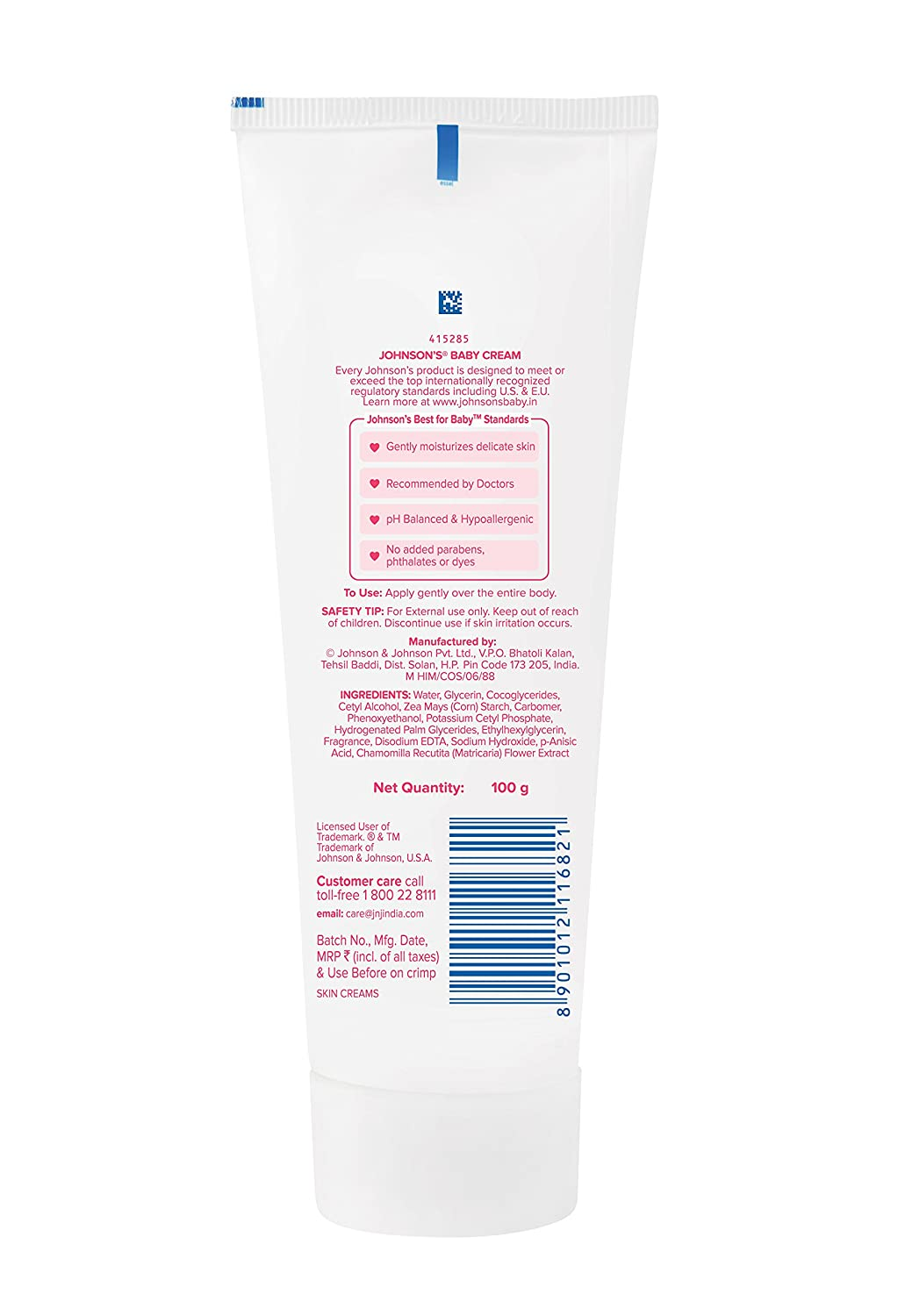 Buy Johnsons Baby Cream 100g Online At Low Prices In India 100gr