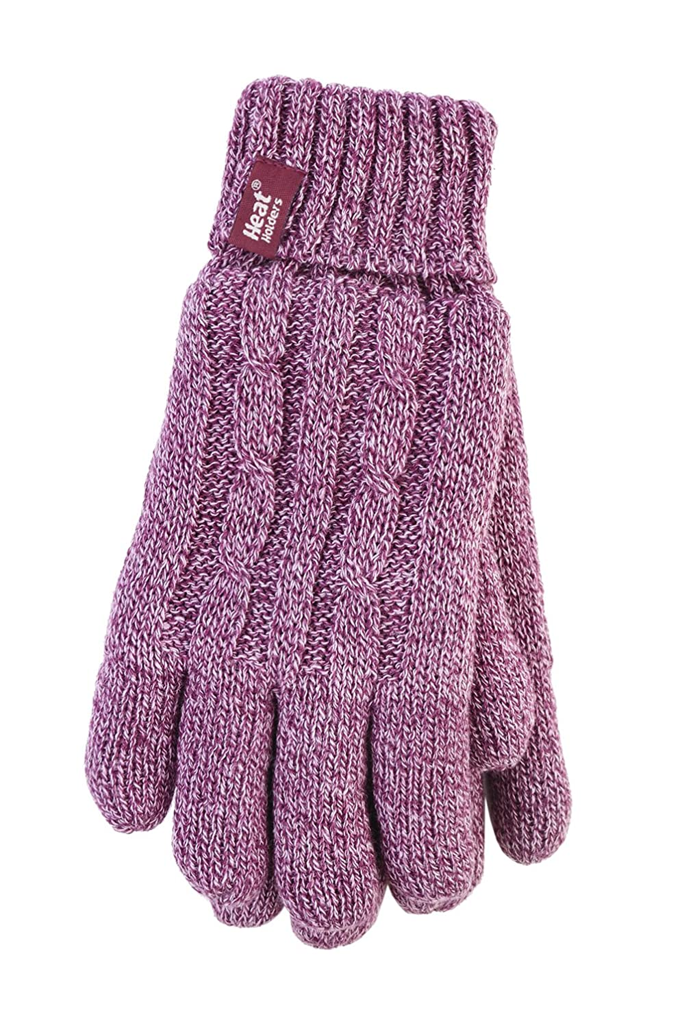 Heat Holders - Thermal Winter Knitted Insulated Gloves for Women - S/M