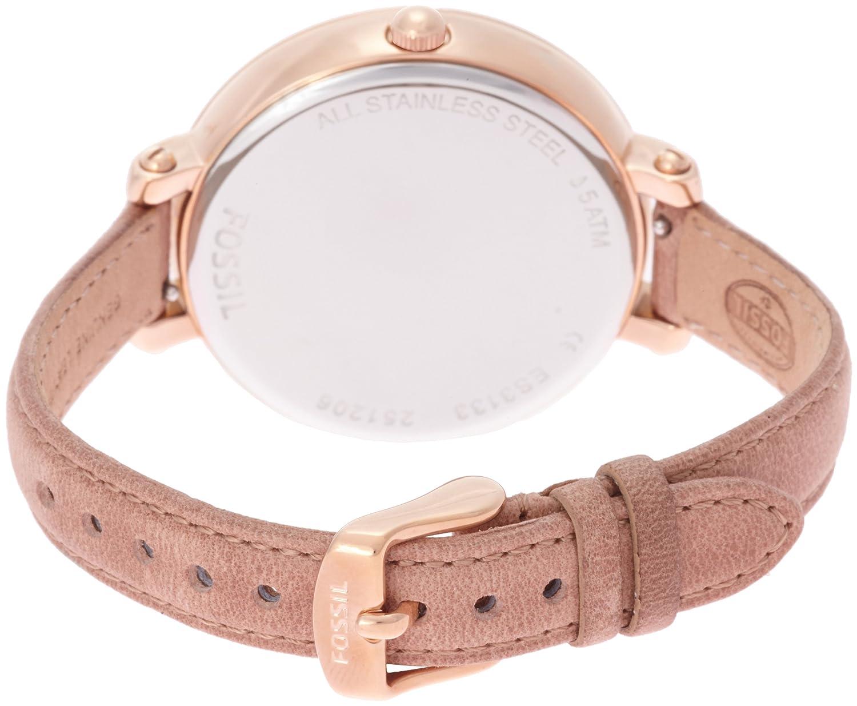 Damen armbanduhr analog leder es3133