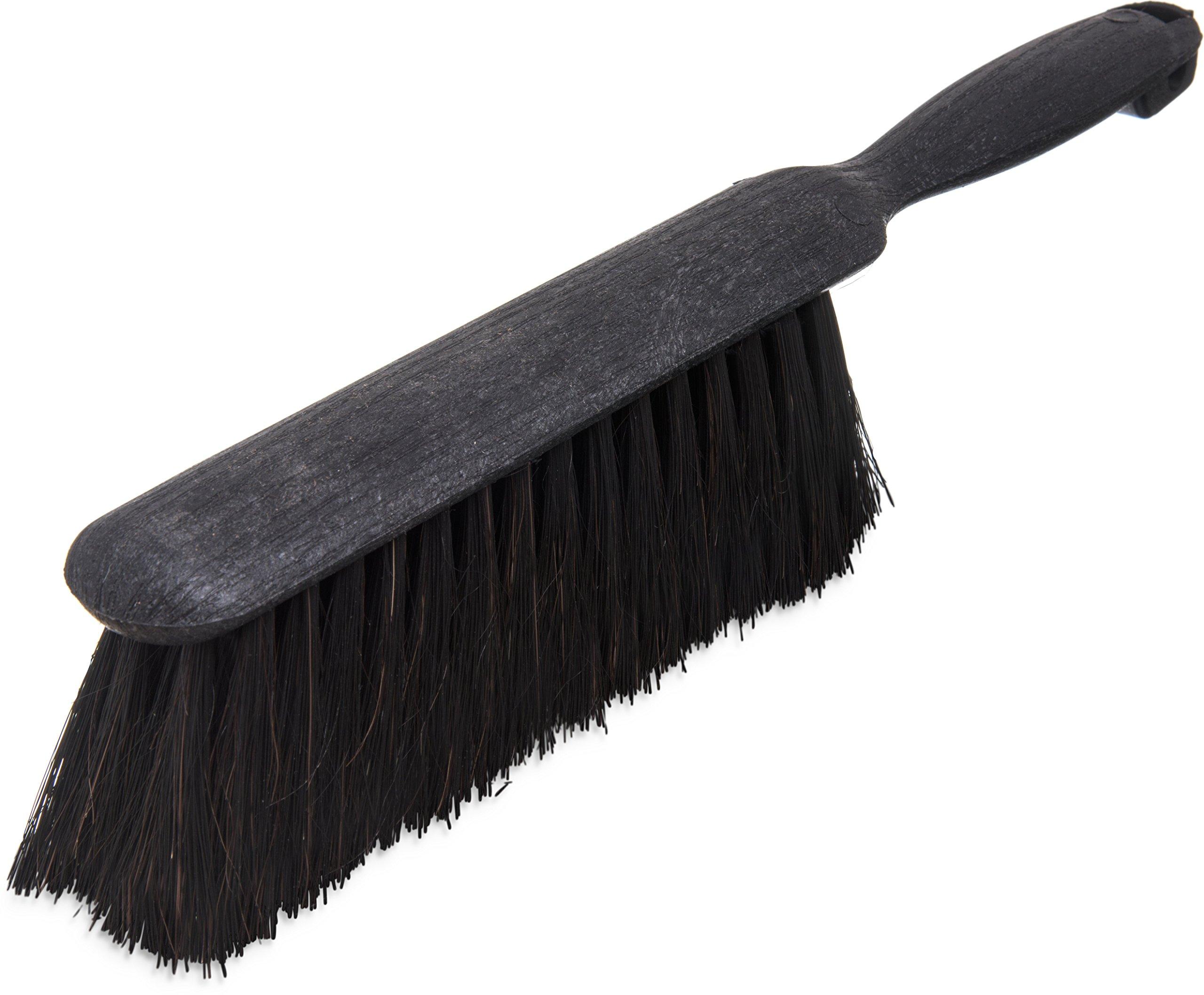 Carlisle 3622503 Counter Brush, Black Plastic Block and Handle, 2-1/2''-Long Horsehair Blend Bristles, 8''-Long Brush (Case of 12)