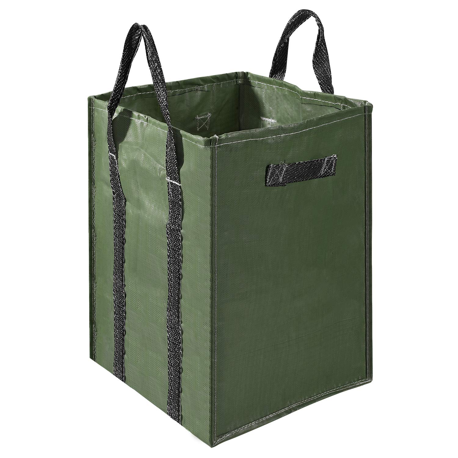 Delxo 48 Gallons Garden Bag 2 Pack Extra Large Reusable Leaf Bags 4 Handles Comparative Collapsible Gardening Containers for Lawn and Yard Waste by Delxo