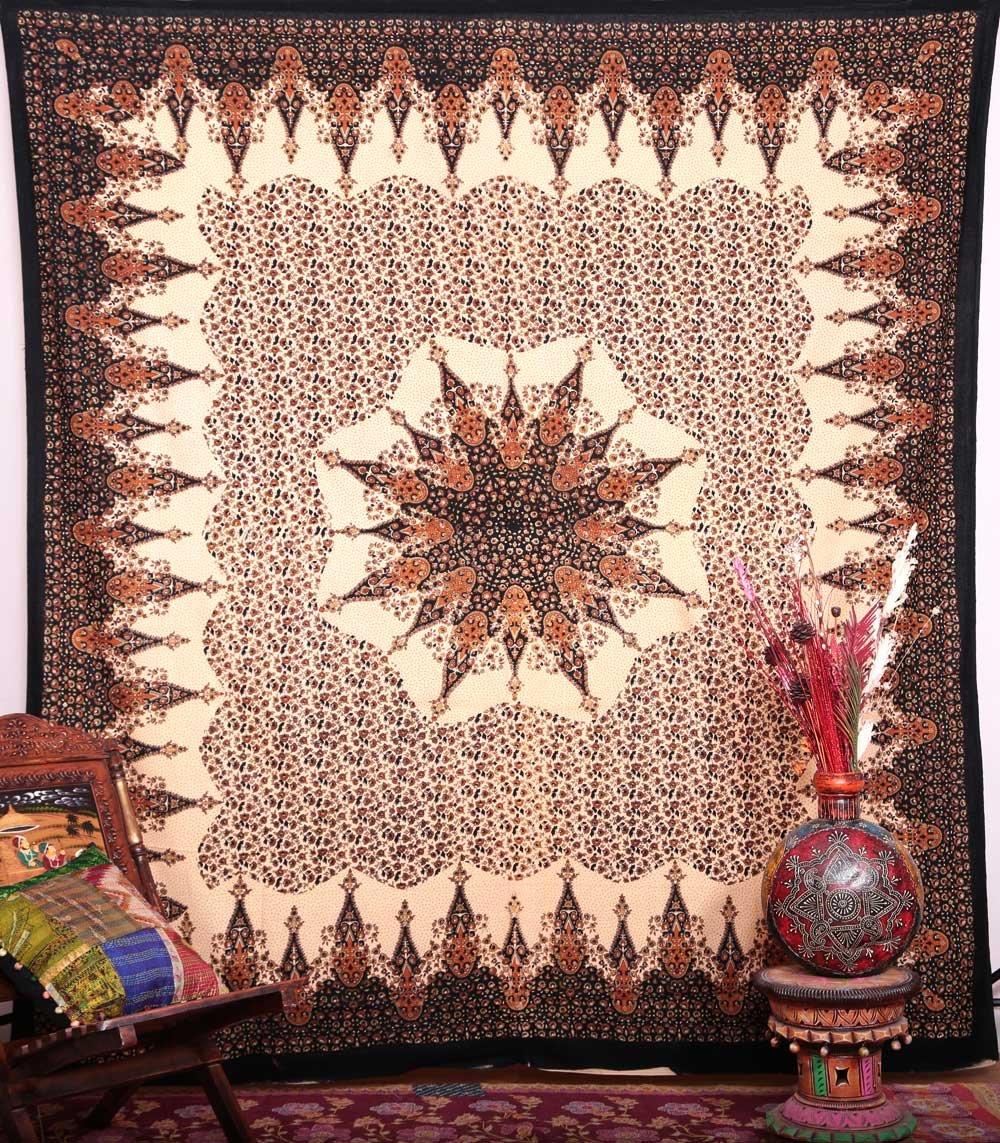 HANDICRAFTOFPINCITY Hippie Mandala Tapestry Queen Cotton Bohemian Bedspread Indian Dorm Decor Ombre Wall Hanging B00PH8R3XM