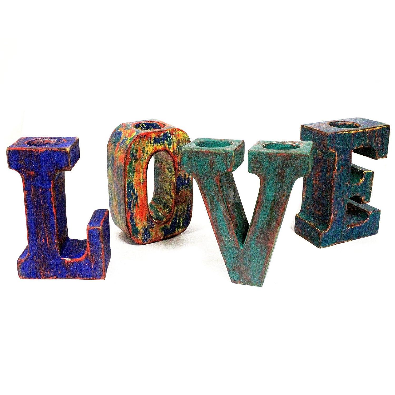 3d grandes cartas de amor, multicolor diseño rústico ...
