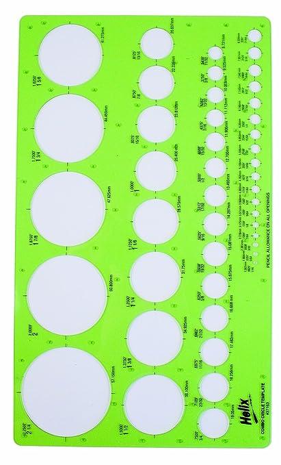amazon com helix combo circle template 37163 technical drawing