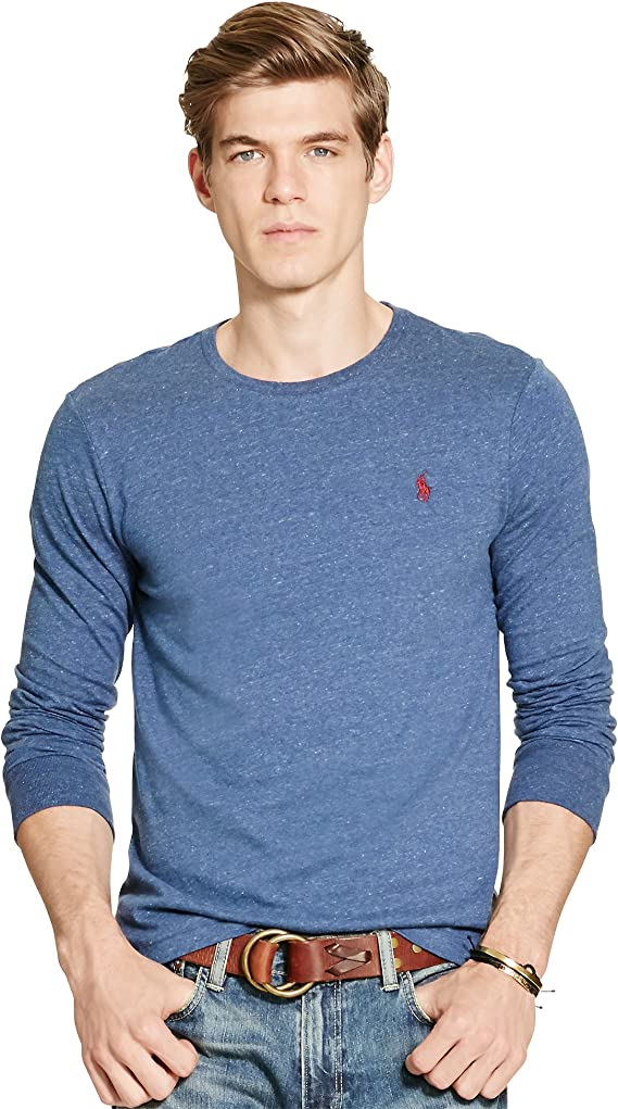 Polo Ralph Lauren - Camiseta de manga larga con cuello redondo ...