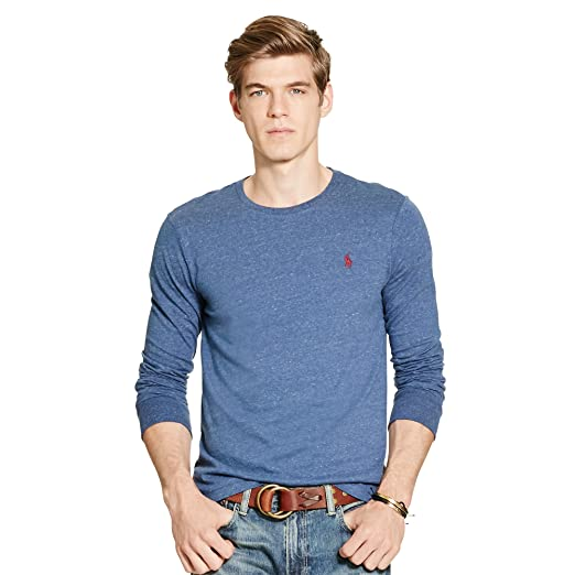 e667852610 Image Unavailable. Image not available for. Color  Polo Ralph Lauren Mens  Custom-Fit Long Sleeve ...