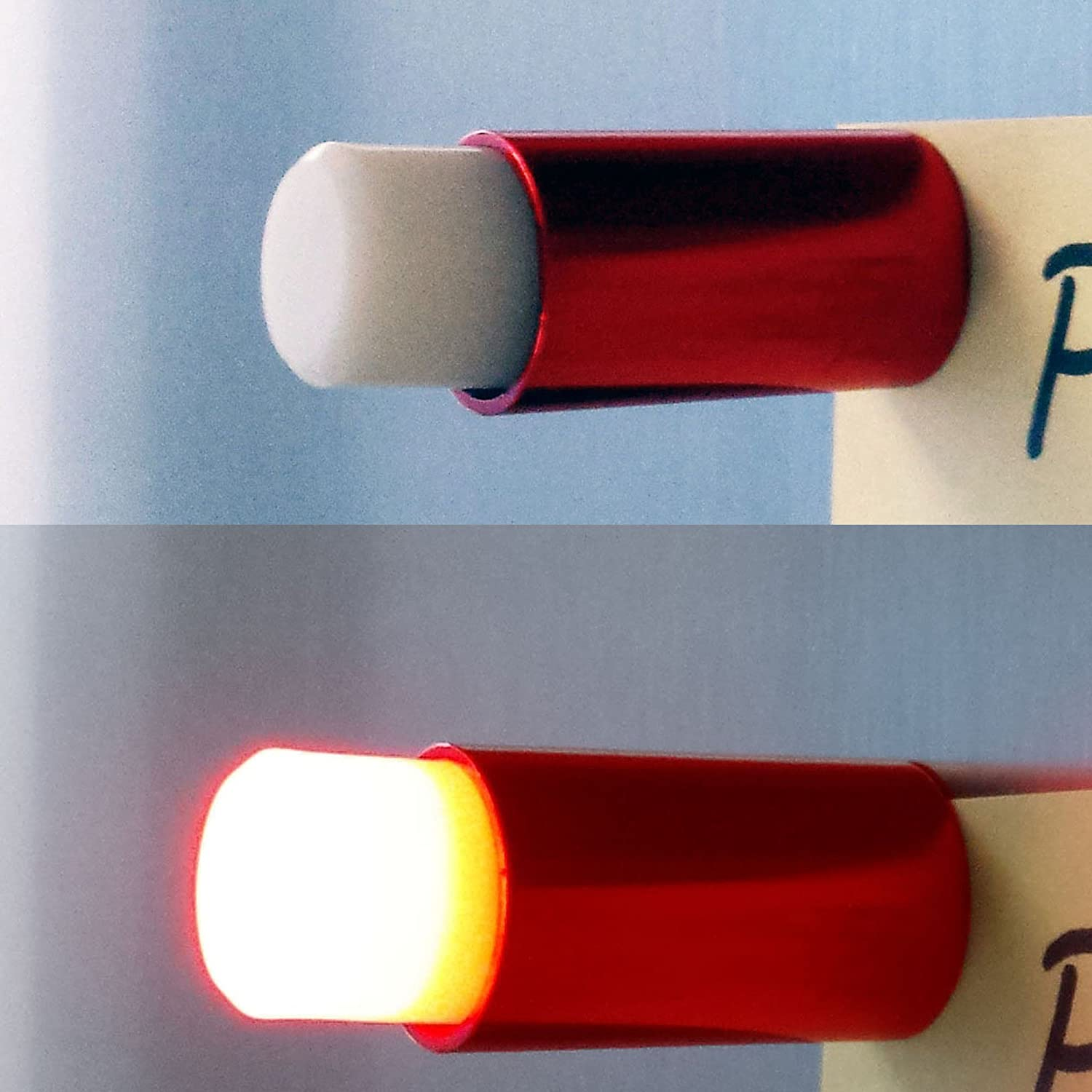 Amazon.com: 4 Bright Red LED Push Pins, Button Magnets - Cool Fridge ...