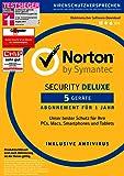 Symantec Norton Security Deluxe | 5 Geräte | PC/Mac/Smartphone/Tablet | Download