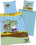 Herding 441251050 Bettwäsche Die Olchis, Kopfkissenbezug: 80 x 80 cm plus Bettbezug: 135 x 200 cm, 100 % Baumwolle, Renforce