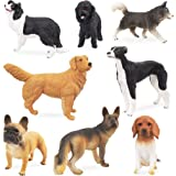 TOYMANY 8PCS Large Dog Figurines Set