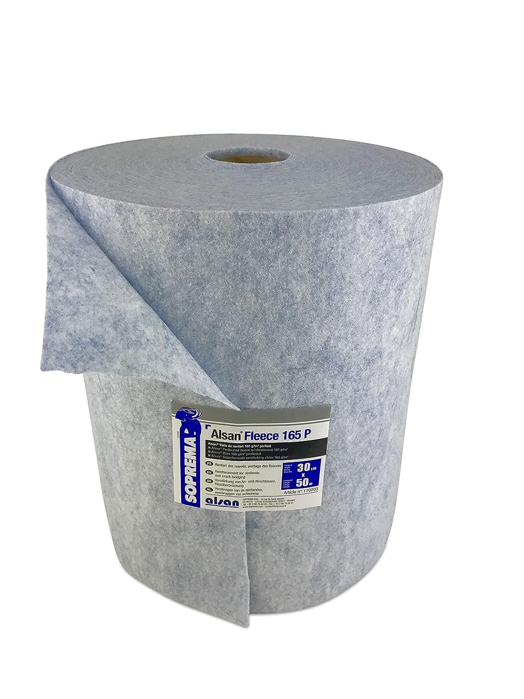 1 Rolle ALSAN Flashing Quadro - VLIES 0,30 x 50,0 Meter | blau eingefärbtes, gelochtes und mechanisch verfestigtes Spezialkunstfaservlies mit 165,0 g/m² Flächengewicht - als Armierungseinlage in Verbindung mit ALSAN Quadro* Flüssigkunst