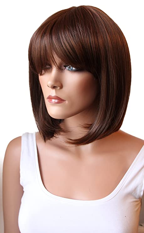 PRETTYSHOP Peluca de la peluca de pelo corto Bob suavemente de fibra sintética resistente al calor