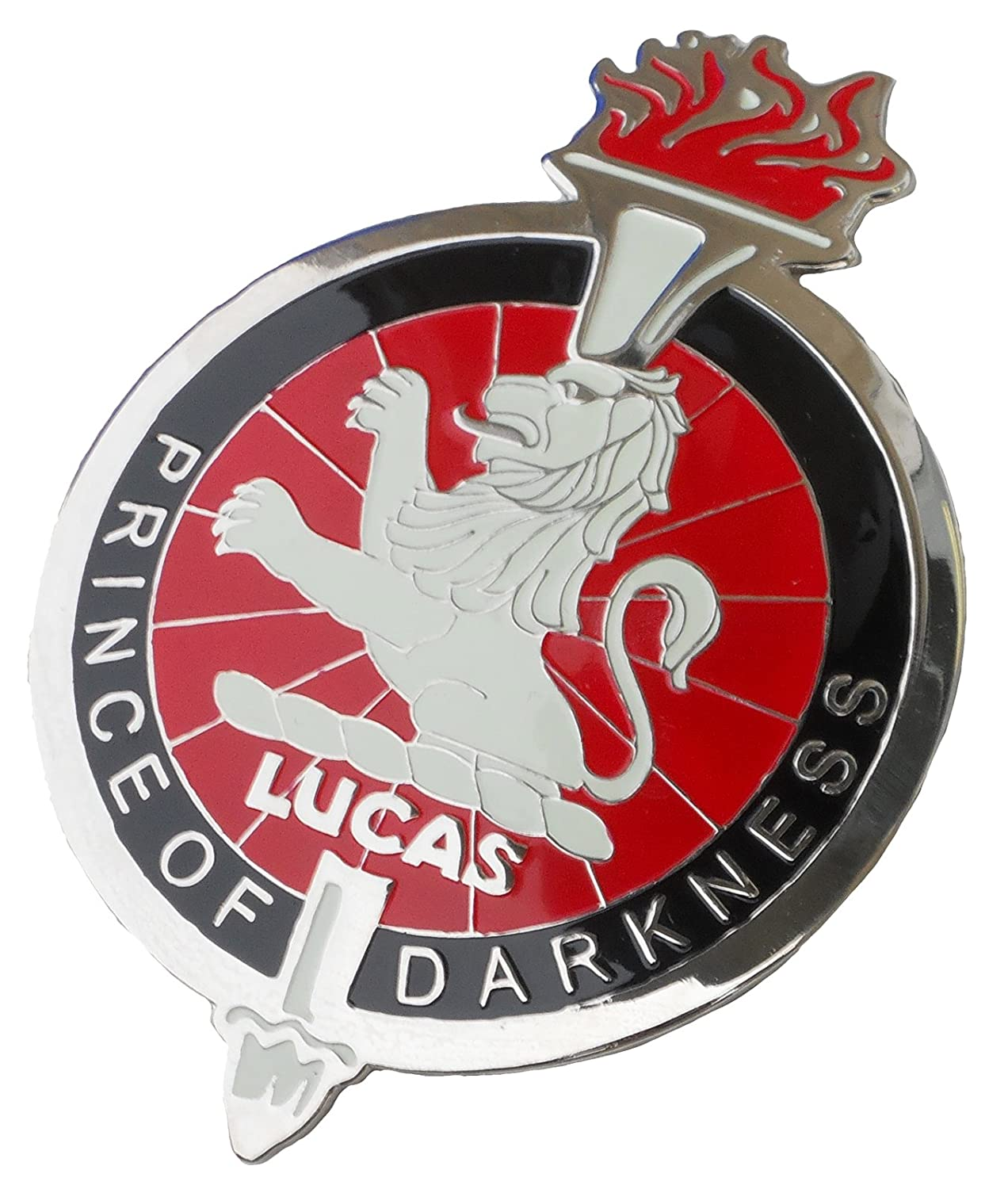 Prince of Darkness Car Grille Badge Joseph Lucas King of The Road