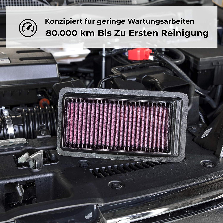 Ersatzfilter K/&N 33-2937 Motorluftfilter: Hochleistung 2004-2014 2008, 408, Cross 307, 206, 308, Partner, C4, C4L, Berlingo, Xsara Picasso Abwaschbar Erh/öhte Leistung Pr/ämie