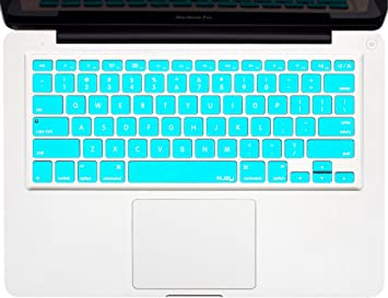 Marble Design English Silicone Keyboard Cover Skin Protector Protective Film for MacBook Air Pro Retina 13 15 17 Us Layout,Marble Aqua Blue