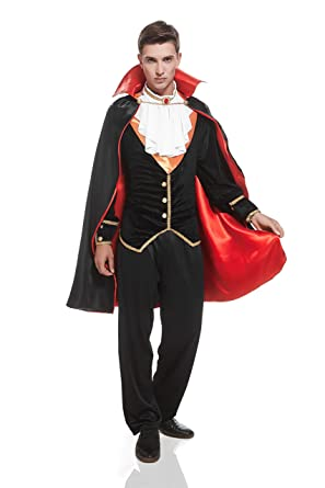 Amazon.com Adult Men Victorian V&ire Halloween Costume Count Dracula Dress Up u0026 Role Play (One size fits most black red white and orange) Clothing  sc 1 st  Amazon.com & Amazon.com: Adult Men Victorian Vampire Halloween Costume Count ...