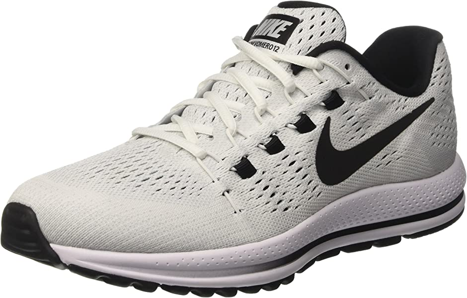 size 40 c9571 1e163 Nike Air Zoom Vomero 12, Chaussures de Course Homme, Blanc (Blanc Platinepur