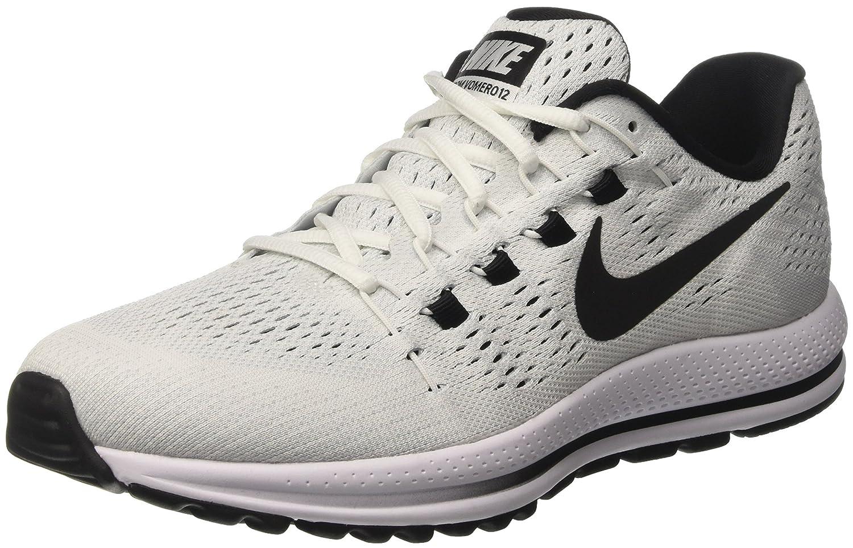 Blanc (Blanc Platinepur Noir) 43 EU Nike Air Zoom Vomero 12, Chaussures de Course Homme