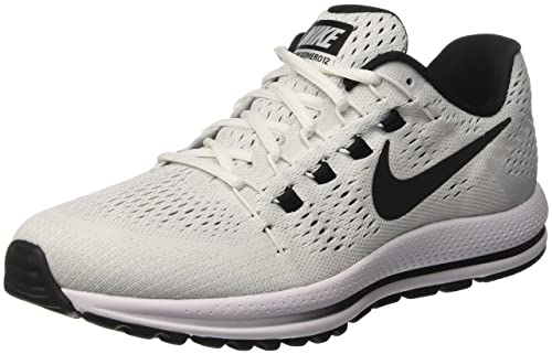 cheaper 32ee6 8098c Nike Men s s Air Zoom Vomero 12 Running Shoes, (White Pure Platinum Black