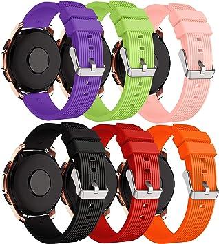 XingWangFa for Samsung Galaxy Watch (42mm) Straps Correas[6 Pack ...