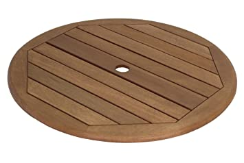 UK Gardens Large 80cm Lazy Susan Outdoor Wooden Dining Table Accessory
