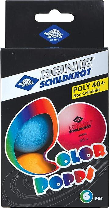 M Pack Of 6 Donic-Schildkroet Colour Pops Table Tennis Balls 40mm