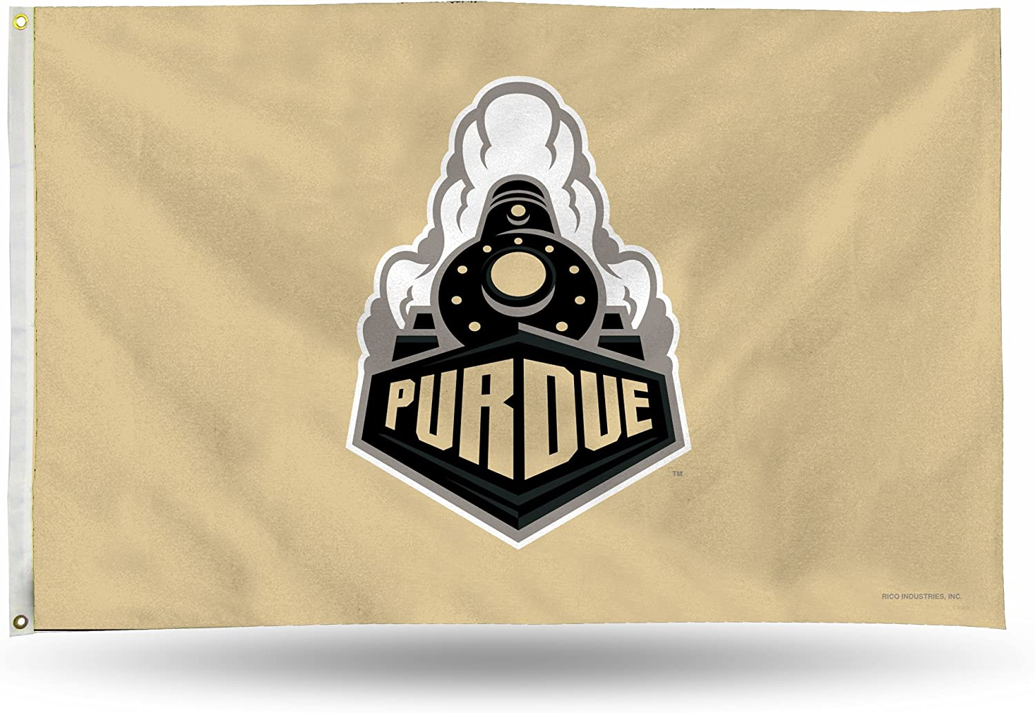 Rico Industries NCAA Purdue Boilermakers 3-Foot by 5-Foot Single Sided Banner Flag with Grommets