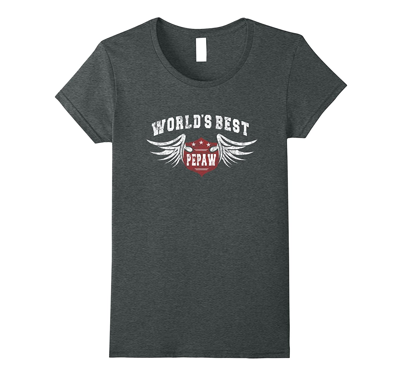 Distressed World's Best Pepaw Grandpa Gift Men T-shirt