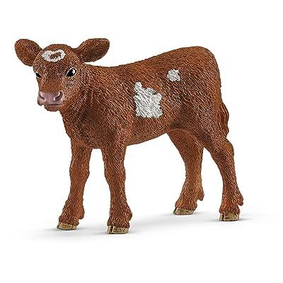 SCHLEICH Farm World Texas Longhorn Calf Educational Figurine for Kids Ages 3-8: Toys & Games