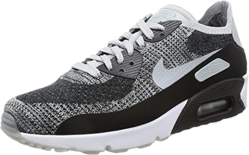 Nike Men's Air Max 90 Ultra 2.0 Flyknit, BlackWolf Grey Pure Platinum, 10.5 M US