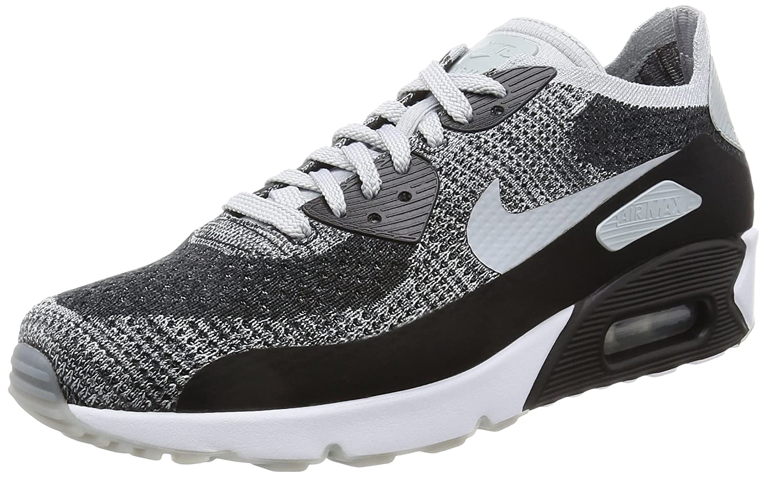 quality design 061cf f4213 Amazon.com   Nike Men s Air Max 90 Ultra 2.0 Flyknit, Black Wolf Grey-Pure  Platinum, 10.5 M US   Road Running