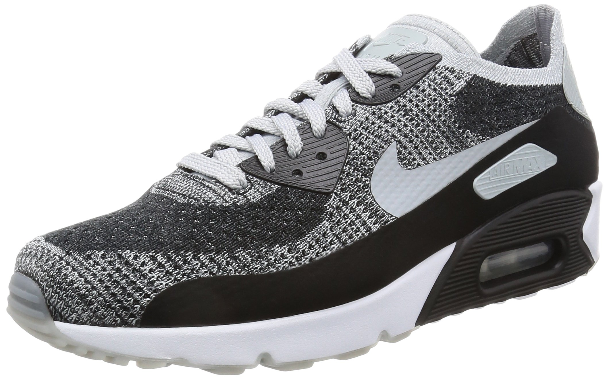 premium selection a7878 3f252 Galleon - NIKE Mens Air Max 90 Ultra 2.0 Flyknit Running Shoes Black Wolf  Grey Pure Platinum 875943-005 Size 9